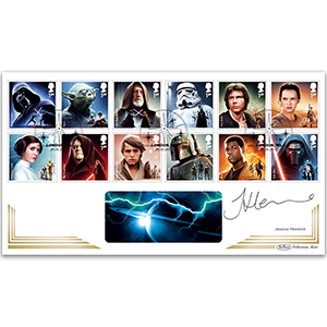 2015 Space Adventure Stamps BLCS 5000 - Signed Jessica Henwick