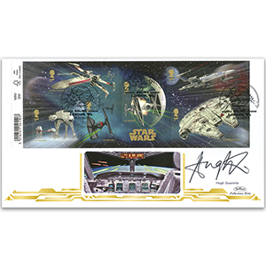 2015 Space Adventure Barcoded M/S BLCS 5000 - Signed by Hugh Quarshie