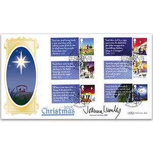 2015 Christmas Gen. Sht. BLCS2500 Signed Joanna Lumley OBE