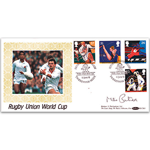 1991 Sport World Student Games - Rugby World Cup BLCS - Signed Mike Burton