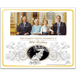 2016 Queen's 90th Bday M/S BLCS 2500 - Signed Dr David Ison, Dean of St Paul's