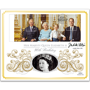 2016 Queen's 90th Barcoded M/S Ltd Ed 1000 - Signed by Judith Weir CBE