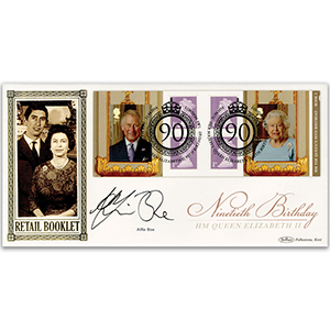 2016 Queen's 90th Retail Booklet No.1 BLCS 2500 - Signed by Alfie Boe