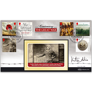2016 WW1 Stamps BLCS 2500 - Signed by Kate Adie OBE