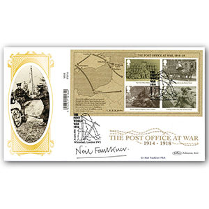 2016 WW1 Barcoded Mini Sheet Ltd Ed 1000 - Signed by Dr. Neil Faulkner FSA