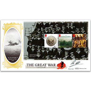 2016 WW1 PSB BLCS Cover 2 - (P2) £1.52 x 3 Pane - Signed Peter Hart