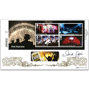 2016 Pink Floyd Barcoded Mini Sheet Ltd Ed 1000 - Signed Sara Cox