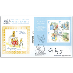 2016 Beatrix Potter Barcoded Mini Sheet Ltd Ed 1000 - Signed by Griff Rhys Jones