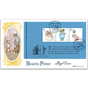 2016 Beatrix Potter BLCS Cover 2 - (P3) Tom Kitten - Signed by Lloyd Owen