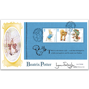 2016 Beatrix Potter PSB BLCS Cover 1 - (P2) Squirrel Nutkin - Signed Lynn Farleigh
