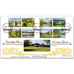 2016 Landscape Gardens Stamps BLCS 2500 - Signed Ralph, 12th Duke of Northumberland