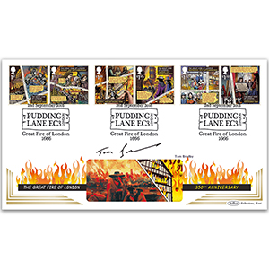 2016 Great Fire of London Stamps BLCS 2500 - Signed by Tom Bradby