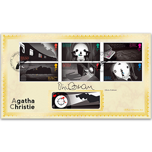 2016 Agatha Christie Stamps BLCS 2500 - Signed Olivia Colman