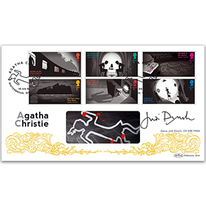 2016 Agatha Christie Stamps BLCS 5000 - Signed Dame Judi Dench