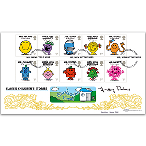 2016 Mr Men Stamps BLCS 2500 - Signed by Geoffrey Palmer OBE