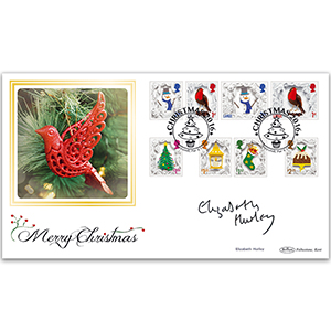 2016 Christmas Stamps BLCS 2500 - Signed by Elizabeth Hurley