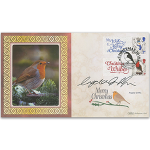 2016 Angela Griffin Signed 50 Years of Christmas Generic Sheet BLCS 5000
