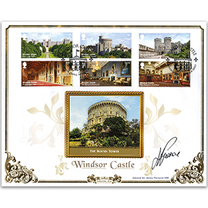 2017 Windsor Castle Stamps BLCS 5000 - Signed by Admiral Sir James Perowne KBE