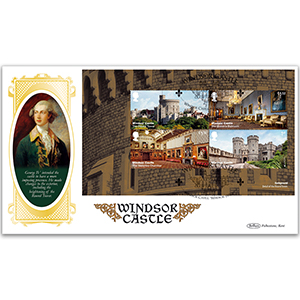 2017 Windsor Castle PSB BLCS Cover 1 - (P1) 2 x 1st/ 2 x £1.52 Pane