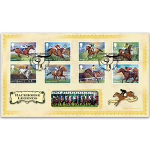 2017 Racehorse Legends Stamps BLCS 2500
