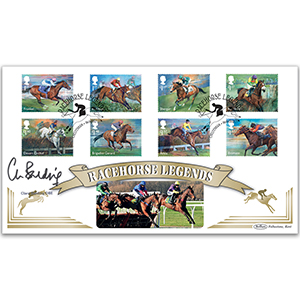 2017 Race Horse Legends Stamps BLCS 5000 Signed Clare Balding OBE