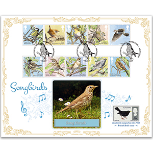 2017 Songbrds Stamps BLCS 2500