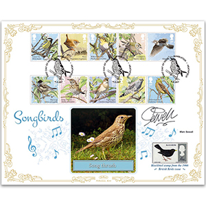 2017 Songbirds Stamps BLCS 2500 - Signed by Matt Sewell