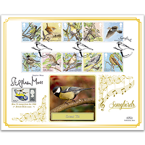 2017 Songbirds Stamps BLCS 5000 - Signed by Stephen Moss