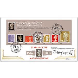 2017 Machin M/S - Golden Anniversary Celebration BLCS 5000 - Signed Lord Jeffery Archer