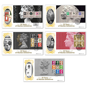 2017 Machin 50th Anniversary PSB BLCS - Set of 5