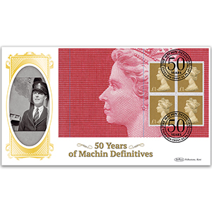 2017 Machin 50th Anniversary PSB - BLCS Cover 4 - (P5) 4 x £1 Pane