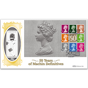 2017 Machin 50th Anniversary PSB - BLCS Cover 5 - (P3) Mixed Definitives Pane