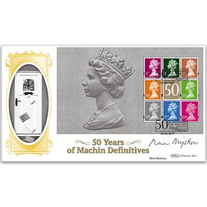 2017 Nina Myskow Signed Machin 50th Anniversary PSB - BLCS COVER 5 - (P3) MIXED DEFIN PANE