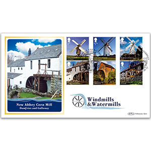 2017 Windmills and Watermills Stamps - Benham BLCS 5000 Cover
