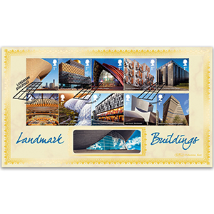 2017 Landmark Buildings Stamps - Benham BLCS 5000 Cover