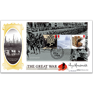 2017 WWI PSB BLCS COVER 2 - (P3) 3x£1.57 - Signed Lyn Macdonald
