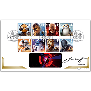 2017 Space Adventure Stamps BLCS 5000 - Signed Jonathan Aris
