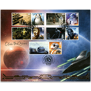 2017 Oliver Ford Davies Signed SPACE ADVENTURES GENERIC SHEET BLCS COVER 2