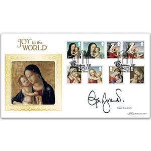 2017 Christmas Stamps BLCS 2500 Signed Gyles Brandreth