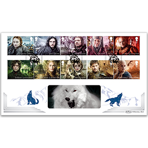 2018 Game Of Thrones Stamps - Benham BLCS 5000 Cover