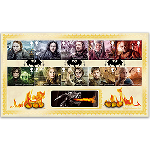 2018 Game Of Thrones Stamps - Benham BLCS 2500 Cover