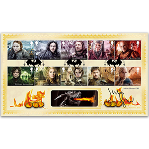 2018 Julian Glover CBE Signed GAME OF THRONES STAMPS BLCS 2500