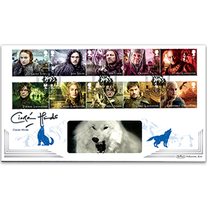 2018 Game of Thrones Stamps BLCS 5000 Signed Ciarán Hinds