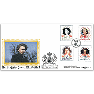 1992 Guernsey - 40th Anniversary of the Queen's Accession BLCS