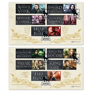 2018 Game of Thrones Generic Sheet - Benham BLCS Pair of Covers