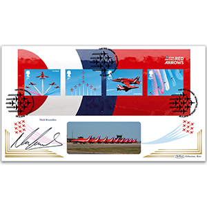 2018 RAF Red Arrows M/S BLCS 2500 Signed Nick Knowles