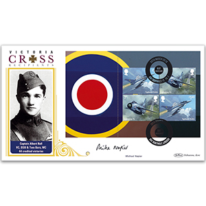 2018 RAF 100th Anniversary PSB BLCS 5000 Cover 2 - (P1) - 2 x 1st, 2 x £1.40 - Signed Michael Napier