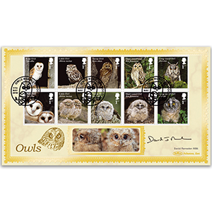 2018 Owls Stamps BLCS 2500 - Signed by David Ramsden MBE
