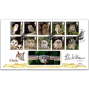 2018 Owls Stamps BLCS 5000 - Signed Iolo Williams
