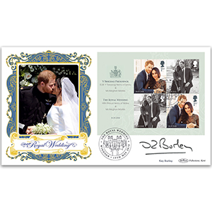 2018 Kay Burley Signed ROYAL WEDDING M/S BLCS 5000